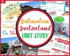 Destination Switzerland - Unit Study - Case of Adventure World Thinking Day, Adventure Activities, Book Activities, Lessons For Kids, Map Marker, Virtual Travel, Visit Switzerland, Unit Studies, Homeschool
