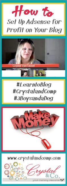 how to make money using Google Adsense #learntoblog #crystalandcomp