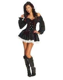 Playboy Skull Pirate Adult Costume
