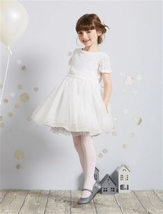 Girl's Party Dress Off-white