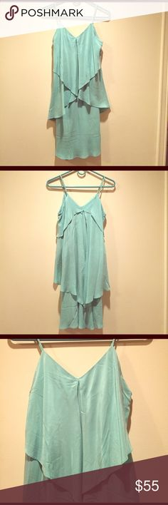Silk dress Stunning mint-colored dress with adjustable straps. 100% silk. In great condition. Tags removed. Bought at South Moon Under. Let me know if you would like more information! Dresses Mini