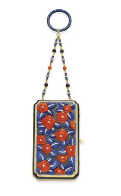 **AN ART DECO CORAL, LAPIS LAZULI, ENAMEL AND DIAMOND ''POIRET ROSE'' VANITY CASE, BY LACLOCHE FRERES   1920s, Jewelry   Christie's