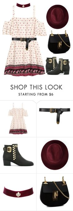 """""""Untitled #1180"""" by sarabutterfly ❤ liked on Polyvore featuring H&M, Alberta Ferretti, Giuseppe Zanotti, Redopin, Charlotte Russe, Chloé, 60secondstyle, summerbooties and outdoorconcerts"""