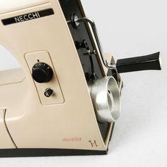 """Mirella"" sewing machine by Marcello Nizzoli www.italianways.com/the-mirella-sewing-machine-and-freuds-question/"