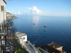 taken from our hotel balcony in Positano Italy