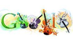 Antonio Vivaldi in a nutshell Logo Google, Art Google, Google Music, Logo D'art, Art Logo, Doodle Google, Google Birthday, Music Clipart, Google Banner