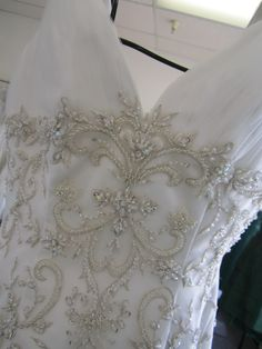 Gown with beautiful beaded bodice