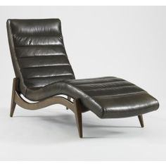Hans Leather Chaise,$2685.00 dwell for the office! Lovely