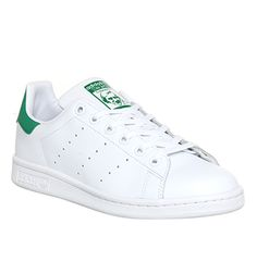 Adidas Stan Smith GS Core White Green - Kids Trainers