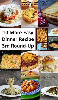 Looking for quick weeknight meals? Try these Easy Dinner Recipe ideas and have a delicious meal on the table in to time.  The last thing you want to do when you get home from a long day of work is worry about what to make for dinner. But that doesn't mean you need to make the same boring ...