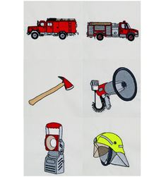 Feuerwehrwagen Stickdatei Feuerwehr Stickmotive/Stickdesign