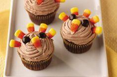 Easy Turkey Cupcakes - Sweet Treat Eats