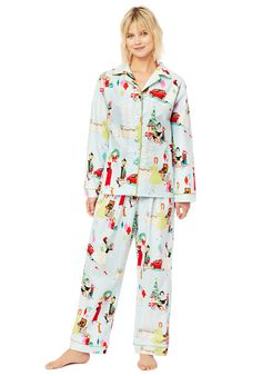 The Cat's Pajamas Women's Glam For The Holidays Classic Flannel Pajama Set Cat's Pajamas, Flannel Pajamas, Pajamas Women, Pajama Set, Pajama Pants, Holiday Pajamas, Holidays, Cats, Classic