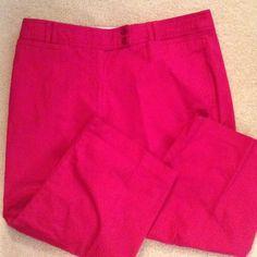 Deep pink capris Capris in perfect condition. Elastic on inside waist. 3% spandex. Briggs NewYork Pants Capris