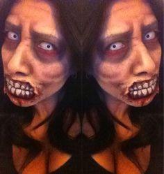 Face paint by me @Christina Martinez #zombie #facepaint #halloween