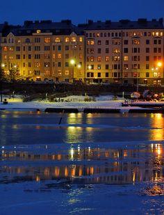 Winter twilight in Helsinki. Photo by Niklas Sjöblom.