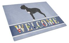 Cane Corso Welcome Glass Cutting Board Large BB8345LCB