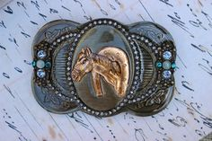 Women's Belt Buckle Horse Embellished with by MoonstruckVintageAZ, $22.50