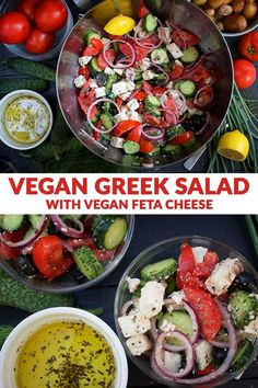 Summer is the perfect time to enjoy refreshing salads, and there's nothing better than a simple vegan Greek salad that will always remind you of sunny days on the beach. Check out the recipe below and…More