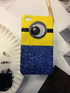 Glitter Minion iphone4 case
