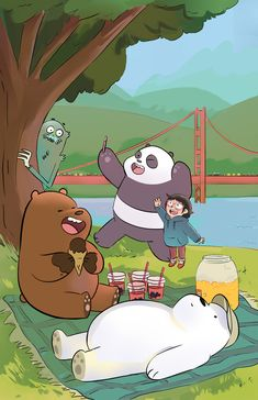 My illustration for the Cute Panda Wallpaper, Funny Iphone Wallpaper, Bear Wallpaper, Kawaii Wallpaper, Cute Wallpaper Backgrounds, Galaxy Wallpaper, Disney Wallpaper, We Bare Bears Wallpapers, Panda Wallpapers