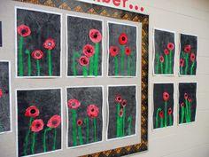 that artist woman: Poppy Mixed Media Remembrance Day Activities, Remembrance Day Poppy, Poppy Craft For Kids, Art For Kids, Anzac Day, Teaching Art, Teaching Ideas, Painting For Kids, Art Plastique