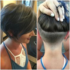 45 Latest Trendy Short Haircuts 2019 The Effective Pictures We Offer You About undercut bob haircut Short Hair Undercut, Short Hair Cuts, Undercut Ponytail, Nape Undercut, Short Hairstyles For Women, Bob Hairstyles, Layered Hairstyles, Pixie Haircuts, Cheveux Courts Funky
