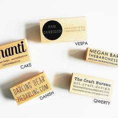 Business Card Stamp  Rubber Stamps and Gifts from Paper Pastries