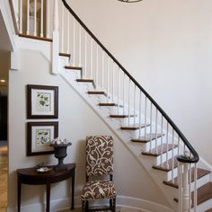 curved front entry way stairs in home | Stair Designs on Image Design Stairs On Curved Staircase Design ...