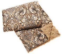Ingrid Paisley Print Faux Fur Throw Blanket x