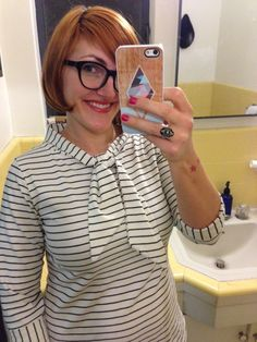 How gorgeous is this? Stephanie made a tie-front Coco #SewingCoco