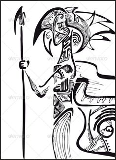Man Lance Drawing  #GraphicRiver         The man the warrior in a profile with a spear. In ZIP -archive: eps (8 version), jpeg (3609×5000 pixels, RGB ).     Created: 10July12 GraphicsFilesIncluded: JPGImage #VectorEPS Layered: No MinimumAdobeCSVersion: CS Tags: abstract #black #body #confident #drawing #ethnic #human #hunter #illustration #lance #male #men #people #portrait #profile #silhouette #soldier #spear #standing #strength #tattoo #vector #warrior #young