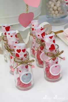 Favors at a Valentine's Party #valentines #favors