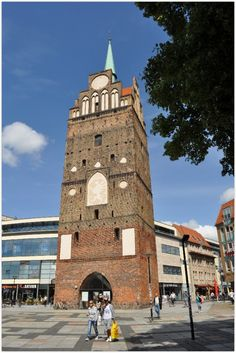 ROSTOCK (GERMANY): The city  wall with gates, towers, watch houses and ramparts was built during the second half of the 13th century.