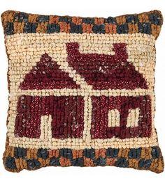 Quilt Mates Locker Pillow Kit-School House & Latch Hook at Joann.com