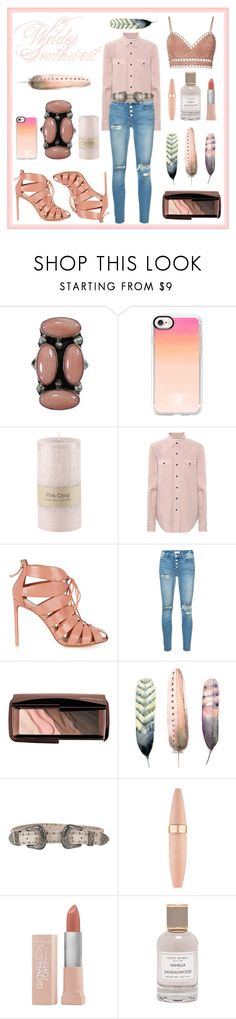 """Wilder Southwest:  Navajo Pink Coral"" by wildersouthwest ❤ liked on Polyvore featuring Casetify, Yves Saint Laurent, Francesco Russo, Mother, Hourglass Cosmetics, B-Low the Belt, Maybelline and Henri Bendel"
