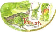 Filatelia: La iguana verde de Vanuatu