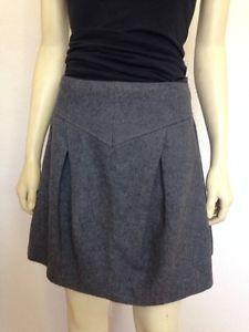 Sale Saint Martique Gray Wool Skirt 8 EUR 36 Fall Winter | eBay