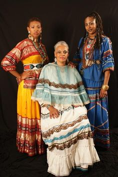 Three generations of African-Native American women