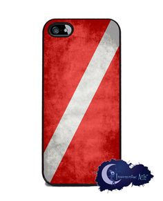 Scuba Diver Down Flag iPhone 5 Cover by InsomniacArts on Etsy, $15.99