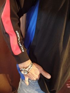 Polo Ralph Lauren Mens Black Red Blue Colorblock Pima Pullover 1/2 Zip L/S XLT #PoloRalphLauren #ShirtsTops