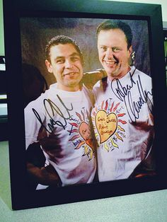 POTD - July 24th. After 15 years, I finally have framed my signed picture of actors Craig Charles and Robert Llewellyn from the 'Swirly Thing Alert' event at KCTS 9. I went up to in back in May 1997 to answer phones and got to meet both actors. Maybe as we get closer to Red Dwarf X, I'll throw up my pictures of me with them doing 'Boys from the Dwarf...'