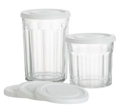 French Jelly Jar Glasses aka Working Glasses and Lid, Crate & Barrel Love these! I need another set! ;)