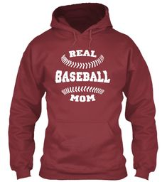 Baseball Mom Shirts 168 Maroon T-Shirt Front