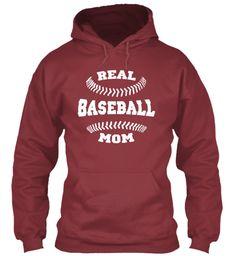 Baseball Mom Shirts 168 Maroon T-Shirt Front