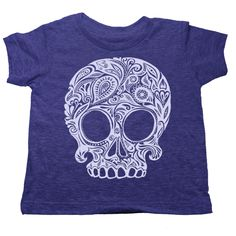 Rocker kids clothes to make you laugh. Admit it, your kid's got attitude, and we like that about them. Celebrate rocker kids clothes with Lil Poopie Nation. This purple skull t-shirt is great for gifts or just-because occasions. Grab up some awesome rocker kids clothes that's sure to stand out.
