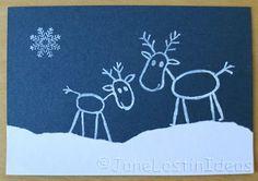 Reindeer stamps - Season Card by Janelostinideas