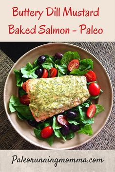 Easy Baked Salmon with Creamy Lemon Dill Sauce Recipe Easy Healthy Dinners, Healthy Foods To Eat, Healthy Dinner Recipes, Paleo Dinner, Healthy Man, Delicious Meals, Healthy Eating, Yummy Food, Dill Salmon