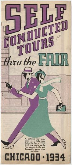Self Conducted Tours thru the Fair, 1933 World's Fair; University of Chicago Library Special Collections Research Center