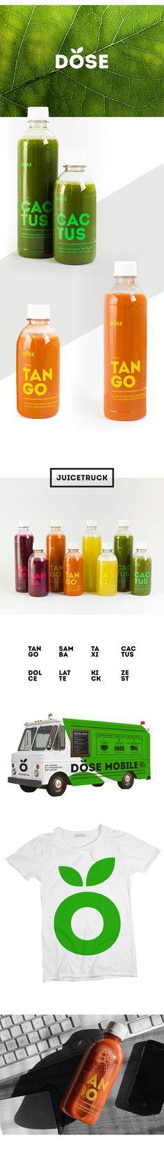 Dose organic juice on Behance